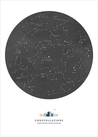 Constellations print by Cedille Noemie at L'Affiche Moderne