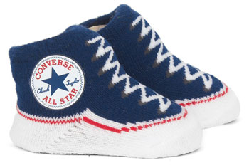 Converse plimsoll-like socks for babies