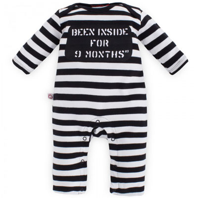 Oh Baby London convict-style striped bodysuit