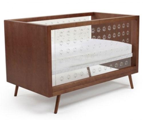 Ubabub Nifty midcentury-style clear crib