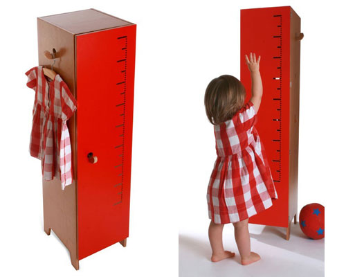 Flapjack coat cupboard by Sebastian Bergne for the Collection Editions