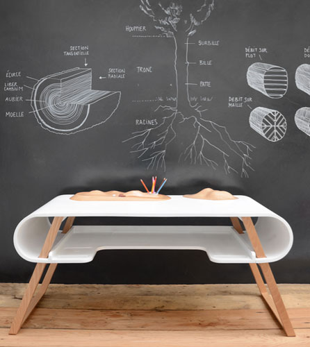 Rubens kids desk by Jean-François Bellemere for Compagnie