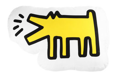 Keith Haring Dog Pillow by Kinetics