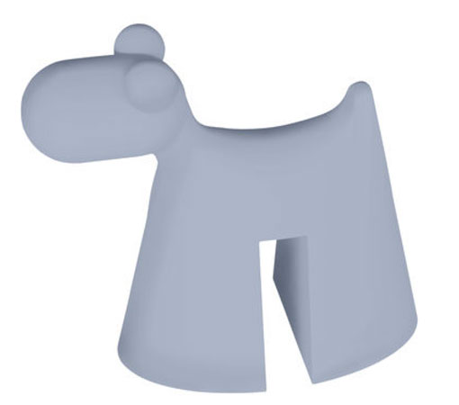 Doggy children's stool by Eero Aarnio by Serralunga