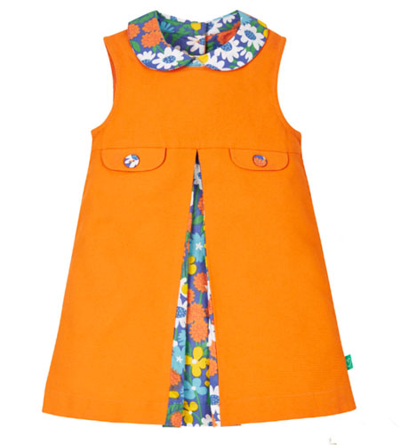 1970-style Little Bird by Jools Orange Collar Dress
