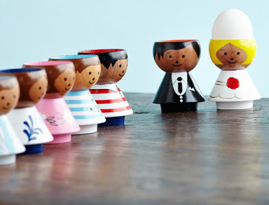 1960s Bordfolk Danish eggcups return