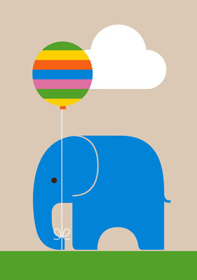 Elephant print By Dicky Bird