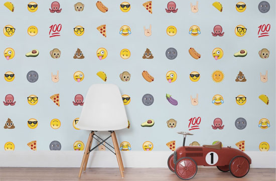 Emoji wall coverings by Murals Wallpaper
