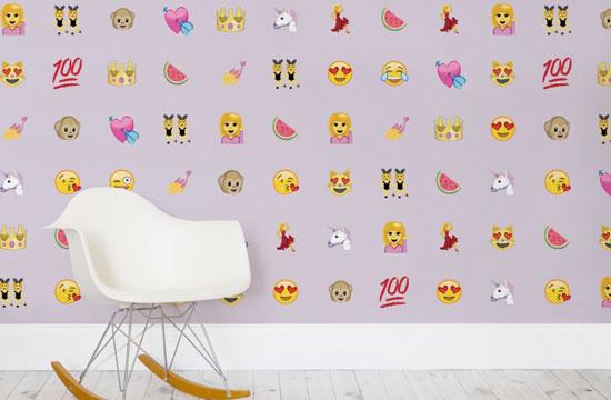 Emoji wall coverings by Murals Wallpaper