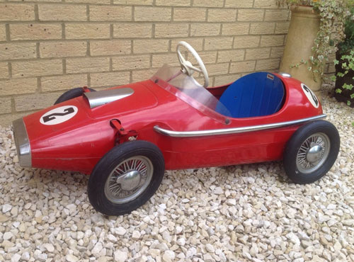 1960s Vanwall Ferrari grand prix pedal car by Triang
