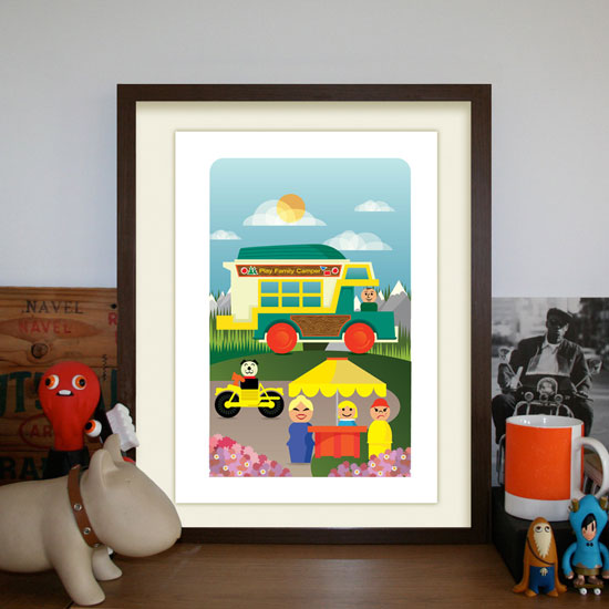 New Fisher Price-themed prints by Hand Drawn Creative