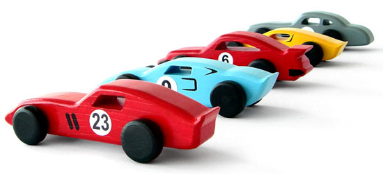 Handmade classic cars in wood by Emanuel Rufo