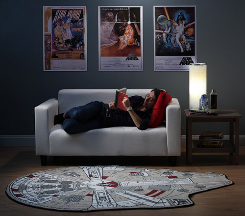 Star Wars Millennium Falcon Printed Rug at ThinkGeek