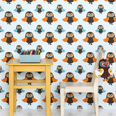 Ferm Living Owls wallpaper by Trine Anderson