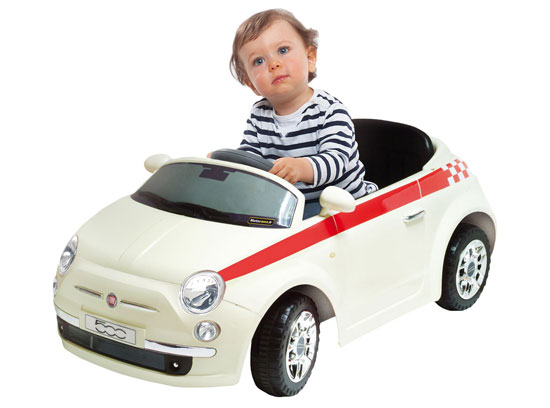 Motorama radio-controlled ride-on Fiat 500 for kids