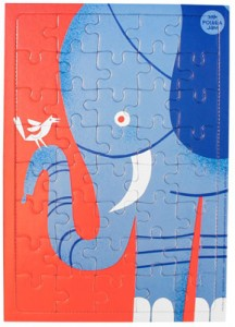 Midcentury-style Animal jigsaw puzzles by Kristiina Haapalainen and Sami Vähä-Aho for Polkka Jam