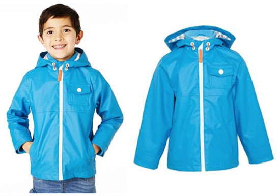 Funnel neck fisherman hooded mac at Marks & Spencer