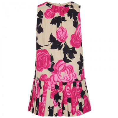 1920s-style floral print pleat dress by Milly Minis
