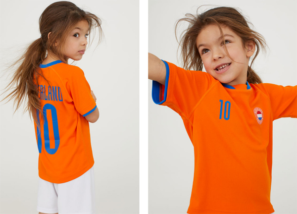 Budget World Cup football shirts for kids at H&M