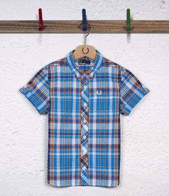 Fred Perry Kids Madras Check Shirt