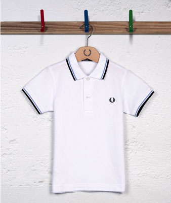 Fred Perry twin tipped polo shirt for kids