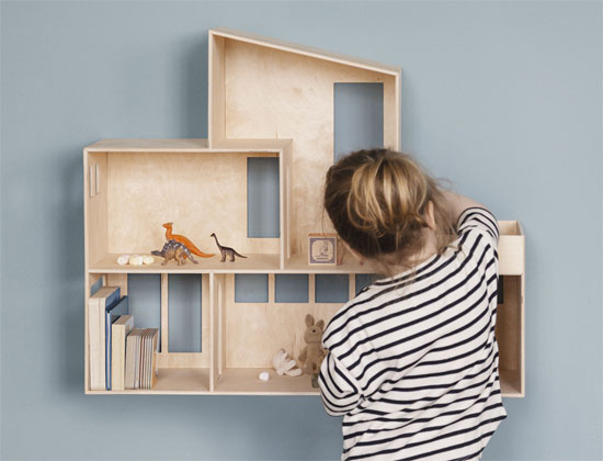 Modernist live and play: Funkis Doll Shelf by Ferm Living