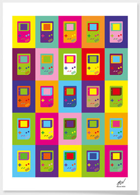 Pop art-style Gameboy print by Maicon MCN