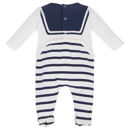 Junior Gaultier nautical-style baby grow and bib set