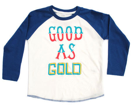 Good As Gold baseball top by Ruff and Huddle