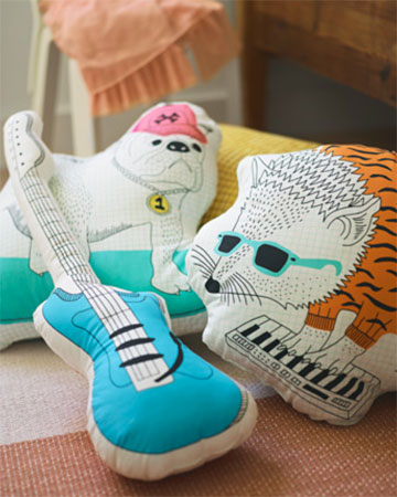 Mini guitar hero: Thorine guitar cushion at Ikea