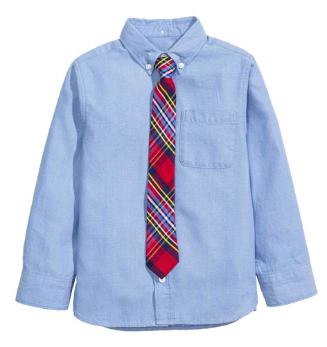 Ivy league kids: Classic shirt and tie combo at H&M Kids
