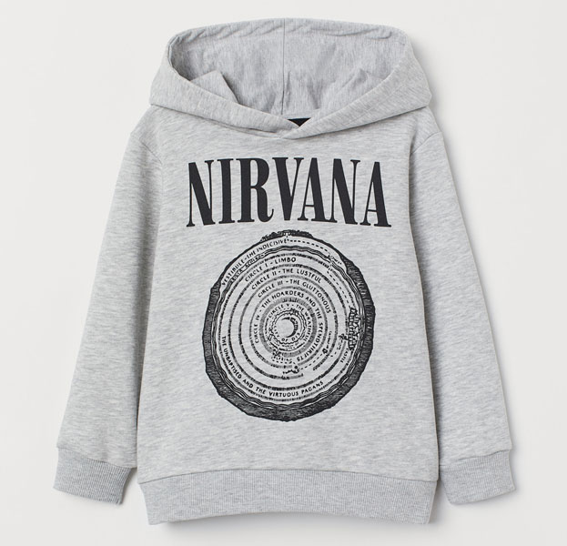 Nirvana and Wu-Tang Clan hoodies for kids at H&M