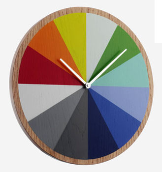 Array wooden wall clock at Habitat