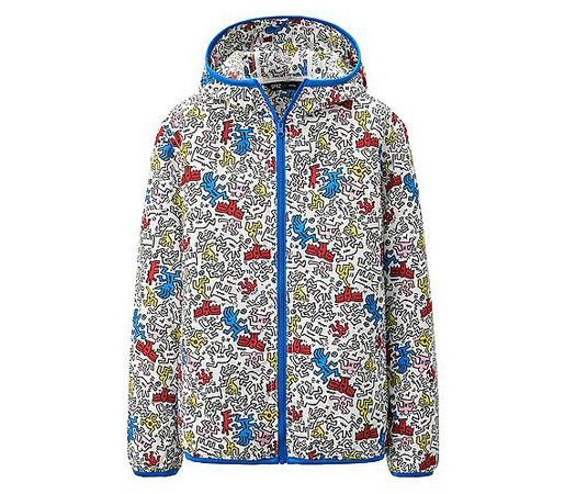 Keith Haring pocketable parka at Uniqlo