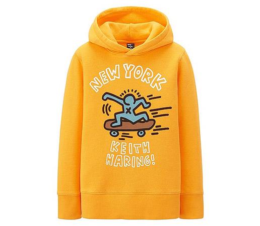 Keith Haring sweatshirts for kids at Uniqlo