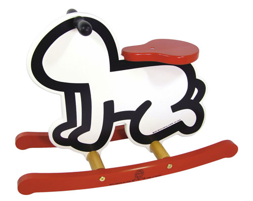 Keith Haring ride-on toy by Vilac