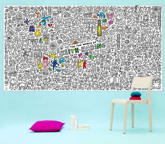 Giant colour-in Keith Haring poster by OMY Design & Play