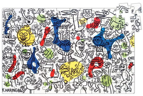 Keith Haring jigsaw puzzle by Vilac