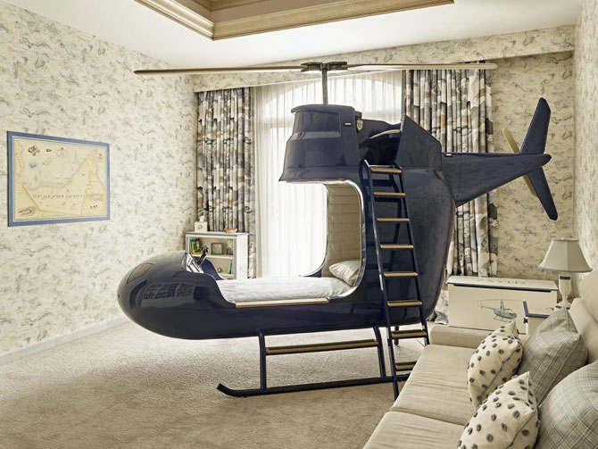 Helicopter Bed at Dragons of Walton Street