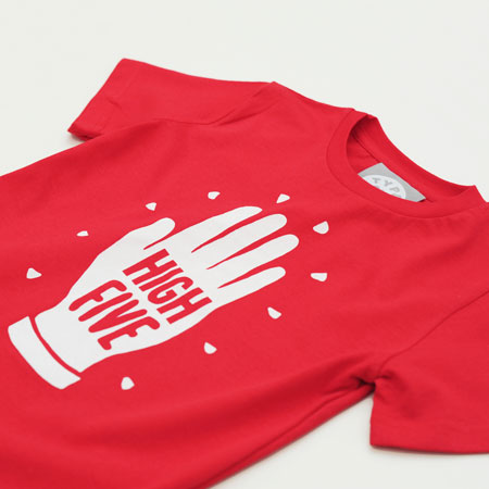 High Five kids t-shirt at Type On Top