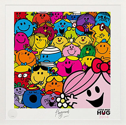 Little Miss Hug Selfie print by Art You Grew Up With