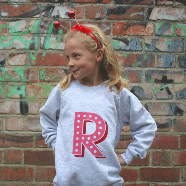 Ivy league kids: Initial sweatshirts by Design Conspiracy
