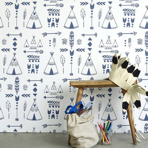 Children's Teepee wallpaper by Nubie
