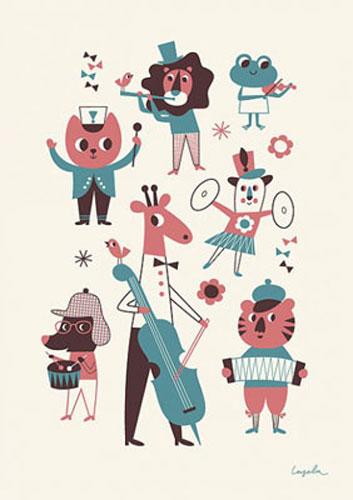 Ingela Arrhenius-designed Orchestra poster by Omm Design