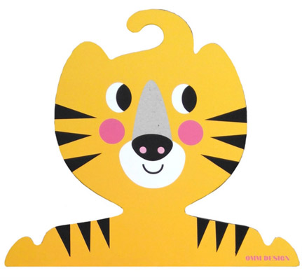Ingela P Arrhenius-designed Tiger and Cat clothes hanger