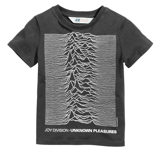 Post punk kids: Joy Division Unknown Pleasures t-shirt at H&M