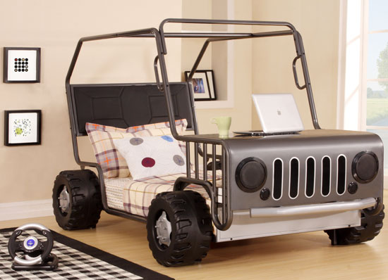 Jeep-style Phoebe Car Bed by Homestead Living