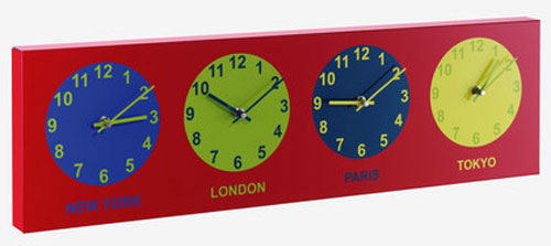 Jet Set wall clock for kids