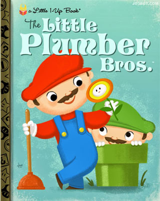 Little Video Game Books: Nintendo characters as children's art by Joebot