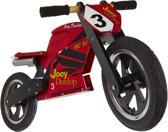 Joey Dunlop TT balance bike at Kiddimoto
